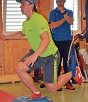 Das Kraft- und Gleichgewichtstraining gehört während der Vorbereitungsphase zum Alltag. (Bild: Urs Huwyler)