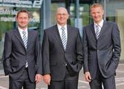Freuen sich auf die Zukunft: (von links) Daniel Engelberger, Christian Jakob und Markus Schwingel. (Bild: pd)