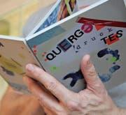 Das Buch mit dem Titel «Quergedrucktes» ist im Rahmen einer Kunsttherapie-Sonderwoche im «Sonnenhof» entstanden. (Bild: PD)