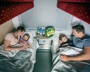 Der Nightjet bietet verschiedene Reisemöglichkeiten an: unter anderem Familienabteile oder Deluxe-Schlafwagen mit eigenem Badezimmer. (Bild: PD)