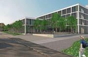 Der geplante Neubau an der Bruggwaldstrasse. (Bild: Visualisierung: PD/Obvita)