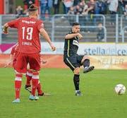 Eine Leistungssteigerung nach der Pause brachte Kagan Söylemezgiller und dem FC Wil den ersten Auswärtssieg seit Ende Oktober. (Bild: Gianluca Lombardi)