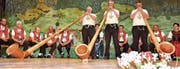 Mit ihren Alphörnern sorgen Sepp Meile, Johann und Georg Hollenstein (von links) für schöne Melodien.