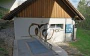 Die beschmierte Pumpstation in Bazenheid. (Bild: PD)