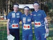 Die siegreichen Brüder Daniel, Martin und Beat Hubmann (von links). (Bild: pd)