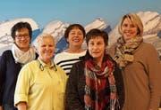 Mitglieder der Arbeitsgruppe: Monika Rutz, Alters- und Pflegeheim Wier in Ebnat-Kappel, Ruth Herzog, Alters- und Pflegeheim Risi in Wattwil, Trudi Fischer, Spitex Mittleres Toggenburg, Brigitte Brändle, Spitex BuGaMo, und Michaela Signer, Hausärztin in Ebnat-Kappel. (Bild: PD)
