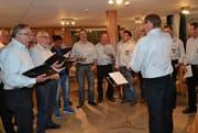 Die Gesangsprobe des Männerchors Säntis, Alt St. Johann, unter der Leitung von Christian Ammann, findet jeweils am Donnerstagabend in der «Alpina», Unterwasser, statt. (Bild: Adi Lippuner)