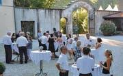 Die zahlreich angereisten Gäste aus der ganzen Region genossen den Abend auf Schloss Heerbrugg in vollen Zügen.