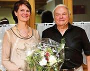 Carla Tiefenauer übernahm das Präsidium des KTV Oberriet von Reinhold Lüchinger, der nach sieben Jahren zurücktrat. (Bild: pd)