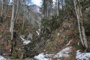 Neben dem Flürentobelbach verliefe eigentlich ein Wanderweg. (Bild: Sabine Schmid)