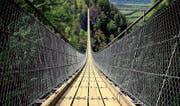 Am kommenden Sonntag entscheidet sich, ob zwischen Grub AR und Grub SG eine Hängebrücke gebaut wird. (Bild: Nils Vollmar)