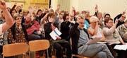 Bei den Abstimmungen herrschte unter den 59 Stimmbürgern Einigkeit. (Bilder: Remo Zollinger)