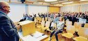 Die Schulbürgerinnen und Schulbürger der Oberstufe Oberriet-Rüthi hiessen Rechnung, Budget und Änderung der Gemeindeordnung einstimmig gut. (Bild: Max Tinner)