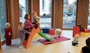 Schnell füllte sich der neue Pavillon mit Kindern, Spielsachen, Decken oder farbigen Klötzen. (Bild: PD)