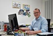 Mosnangs Gemeindepräsident Renato Truniger hat in seinem ersten Amtsjahr viel Zeit im Büro verbracht. (Bild: Timon Kobelt)