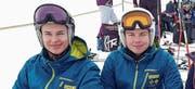 Die Sieger im Swiss Regio Cup, Nico Weber aus Oberuzwil und Fiona Zoller aus Flawil. (Bild: PD)