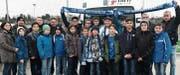 Die Rüthner Junioren und deren Begleiter waren vom Besuch beim TSG Hoffenheim begeistert, zumal das Fanionteam dann auch noch das Heimspiel gewann. (Bild: pd)