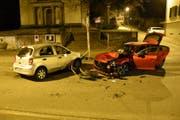 Bei dem Unfall wurde eine Person leicht verletzt. (Bild: Kapo SG)