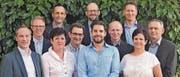 Die Nominierten (von links): Martin Müller, GPK Gemeinde (bisher); Peter Haas, Gemeinderat (bisher); Darina Lechner, Gemeinderat (bisher); Andreas Baumgartner, Schulrat (neu); Peter Schefer, GPK Schule (bisher); Roger Trösch, Präsident Schulrat (bisher); Christian Lütolf, GPK Schule (neu); Hanspeter Künzler, GPK Gemeinde (bisher); Michael Graf, Schulrat (neu); Simone Grüninger, Schulrat (bisher); Peter Staub, Gemeinderat (neu). (Bild: pd)