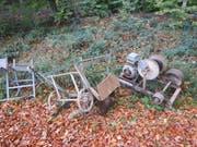 Unbekannte haben alte Maschinen entsorgt. (Bild: Kapo TG)