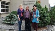 Erika Brändle (links), Pieder Flepp und Gaby Helfenberger helfen Zugezogenen, sich in Häggenschwil zu integrieren. (Bild: Marlen Hämmerli)