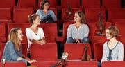 Treten am Sonntag in der Alten Zwirnerei auf (von links): Sybille Bremi (Violoncello), Nathalie Hubler (Rezitation), Antonia Ruesch (Violine), Brigitte Maier (Viola), Christine Baumann (Violine). (Bild: PD)