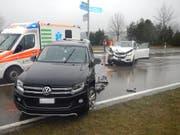 Beim Unfall in Märstetten entstand ein Sachschaden von 25'000 Franken. (Bild: Kapo TG)
