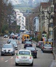 Verkehr auf der Teufener Strasse. (Archivbild: Benjamin Manser)