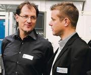 Diskutierten: Borut Gracej (links) und Patrik Bryner.