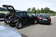 Beim Unfall entstand Sachschaden von knapp 40'000 Franken. (Bild: Kapo SG)
