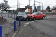 Der 20-Jährige verlor die Kontrolle über sein Auto. (Bild: Kapo SG)