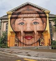 Die Fassade der Offenen Kirche ziert jetzt ein Graffiti. (Bild: Katharina Brenner)