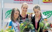 Rahel Küng (Bildmitte) ist die schnellste Schweizer Juniorin im Triathlon. (Bild: pd)