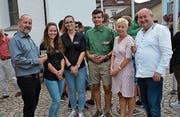 Freuen sich auf die Zusammenarbeit: (von links) Jugendseelsorger Rolf Dittli, die Scharleiter von Blauring und Jungwacht, Präses Pia Thoma und Pfarrer Josef Manser. (Bild: PD)