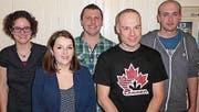 Der neue Vorstand des TV Reute setzt sich zusammen aus (v. l.): Erika Bischofberger-Inauen, Sara Rechsteiner, Pascal Dietsche, Marco Locher und Joel Niederer. (Bild: pd)