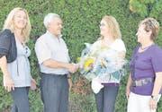Die Inauen Dreherei AG geht in dritter Generation in die Zukunft: (von links) Brigitte Valdivia-Inauen, Hans Inauen, Irene Inauen und Loni Inauen. (Bild: pd)