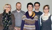 Der Vorstand der Kantorei Toggenburg: Corina Schiess (Lichtensteig), Martin Müller (Lachen), Barbara Jäger (Ganterschwil, Präsidentin), Markus Leimgruber (Wil, Musikalischer Leiter) und Yvonne Betschart (Nesslau), (v.l.). (Bild: pd)