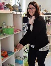 Die 33-jährige Lilian Brocker aus Kirchberg führt seit Sommer 2017 ihren eigenen Geschenkladen Lilavendel in St. Gallen. (Bild: Anina Rütsche)