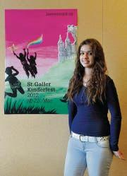 Das Siegerplakat für das Kinderfest hat die Oberstufenschülerin Armanda Asani gestaltet. (Bild: Hanspeter Schiess)