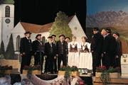 Die Stadtjodler boten im Fürstenlandsaal ein breites Liederprogramm. (Bild: Manuela Bruhin)