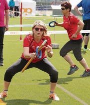 Marlene Benz vom Goldteam STV Oberriet-Eichenwies beim Fit & Fun.