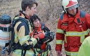 Wer Feuerwehrdienst leistet, ist von der Feuerwehrersatzabgabe befreit: Angehende Feuerwehrleute während des regionalen Grundkurses in Altstätten im Februar 2017. (Bild: Kurt Latzer)