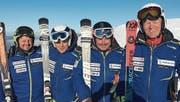 Bruno Meier und Roland Nef, beide Skiclub Bühler, Leo Manser, Skiclub Oberegg und Hansruedi Laich, Skiclub Trogen (Bild: PD)