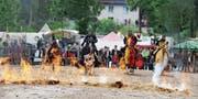 Die Ritter der schwarzen Lanze veranstalten am Samstag und Sonntag ein veritables Ritterturnier und demonstrieren auch die hohe Kunst des mittelalterlichen Lanzenstechens.