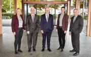 Anfang Jahr stiess Helen Alder (2. von rechts) zum Gossauer Stadtrat. Nun braucht es eine Nachfolge für Stefan Lenherr (rechts). (Bild: PD/Foto Belos)