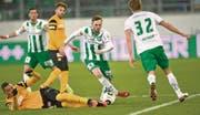 Im Spiel gegen die Young Boys macht Lucas Cueto (Mitte) vor allem dank seiner Schnelligkeit auf sich aufmerksam. (Bild: Ralph Ribi)