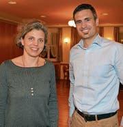 Yvonne Tinner und Lukas Fust organisierten den Anlass. Beide gehören seit Jahren dem OK von Kirchberg bewegt an. (Bilder: Beat Lanzendorfer)