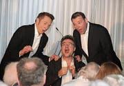 Die «Swiss Tenors» erfreuten das Publikum im Tertianum Rosenau mit einem festlichen Programm. (Bild: PD)