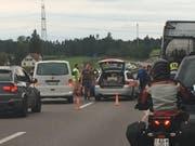Kein Unfall, sondern ein Notfall-Einsatz: Blick auf den Schauplatz des Geschehens. (Bild: Leserbild)