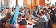 Die Mitglieder des Fischereivereins Mittelrheintal waren sich bei den Abstimmungen und Wahlen an der HV einig. (Bild: Remo Zollinger)